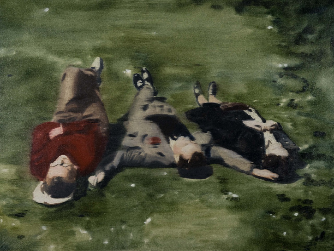 DANI McKENZIE  Sur l'Herbe , 2019 oil on linen 46 x 61 cm