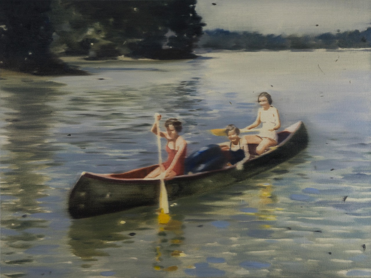 DANI McKENZIE  The Canoe , 2019 oil on linen 46 x 61 cm