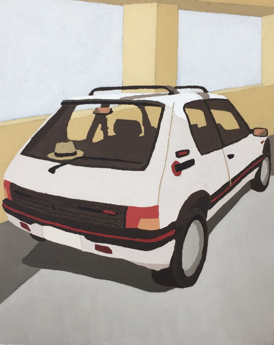 ELIZA GOSSE  That car on Bourke you know the one? , 2019 oil on canvas 25 x 20 cm