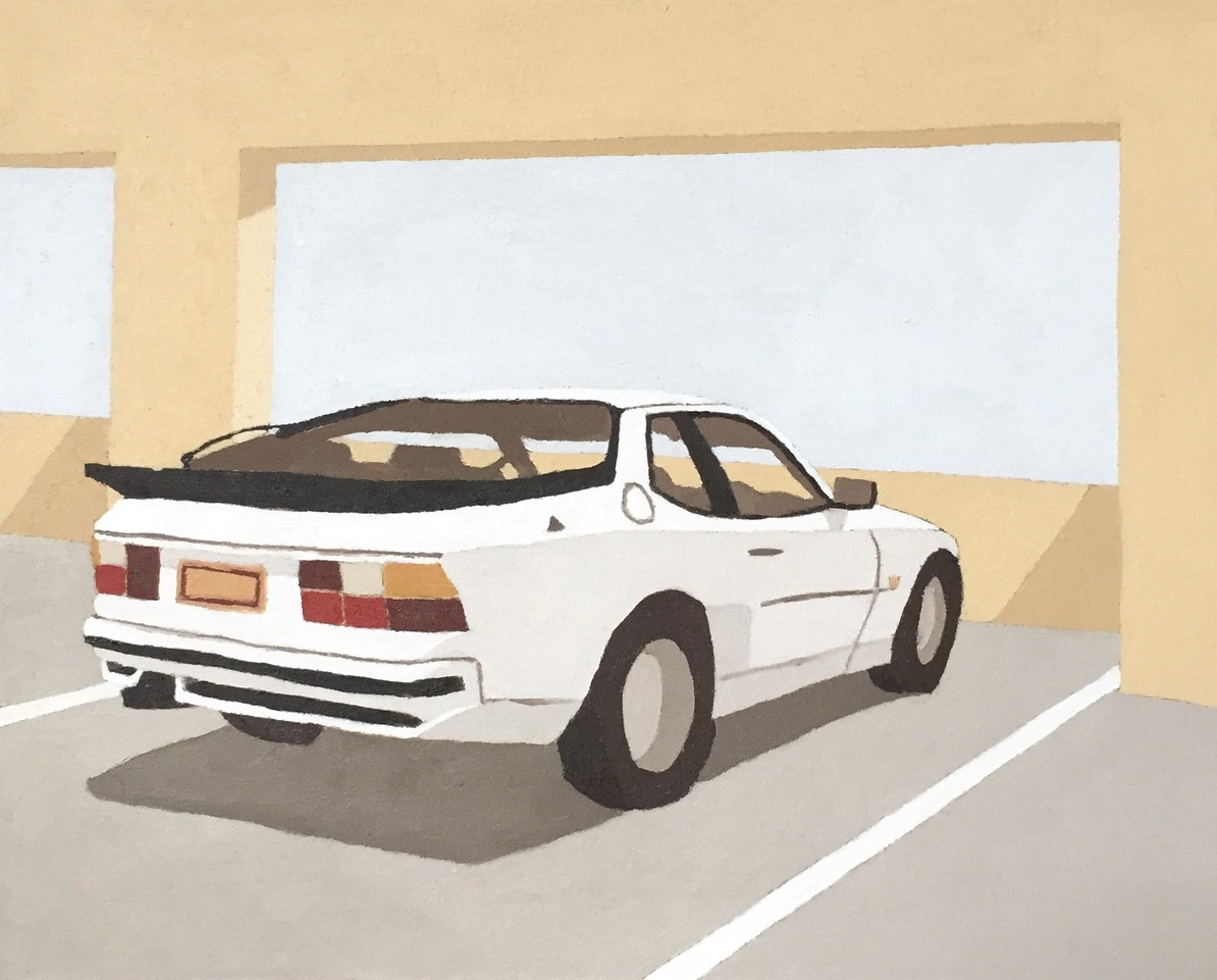 ELIZA GOSSE  The first car that I have ever loved , 2019 oil on canvas 20 x 25 cm