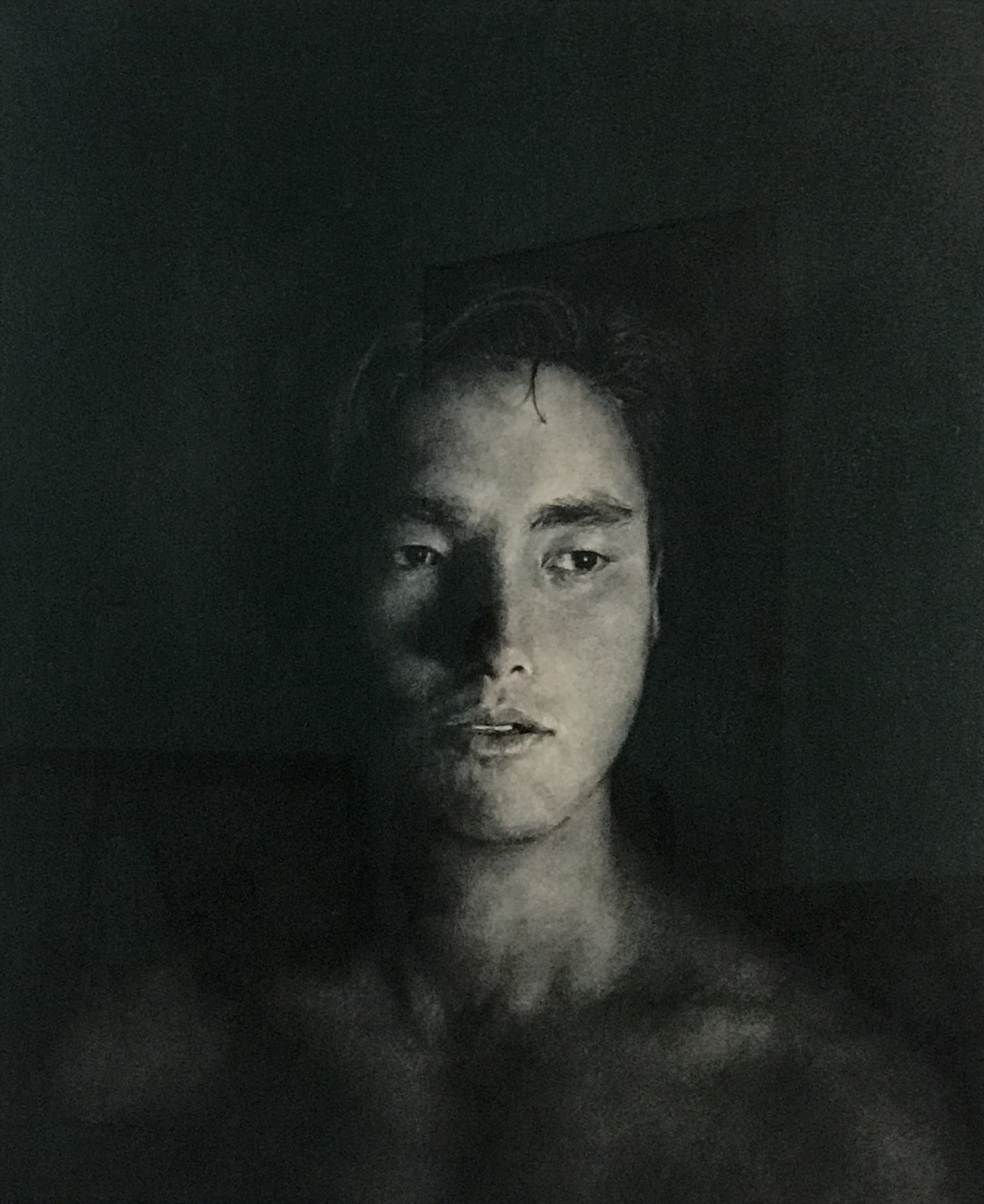 ANTOINETTE BARBOUTTIS  Remy  charcoal on rag paper 104 x 85.5 cm
