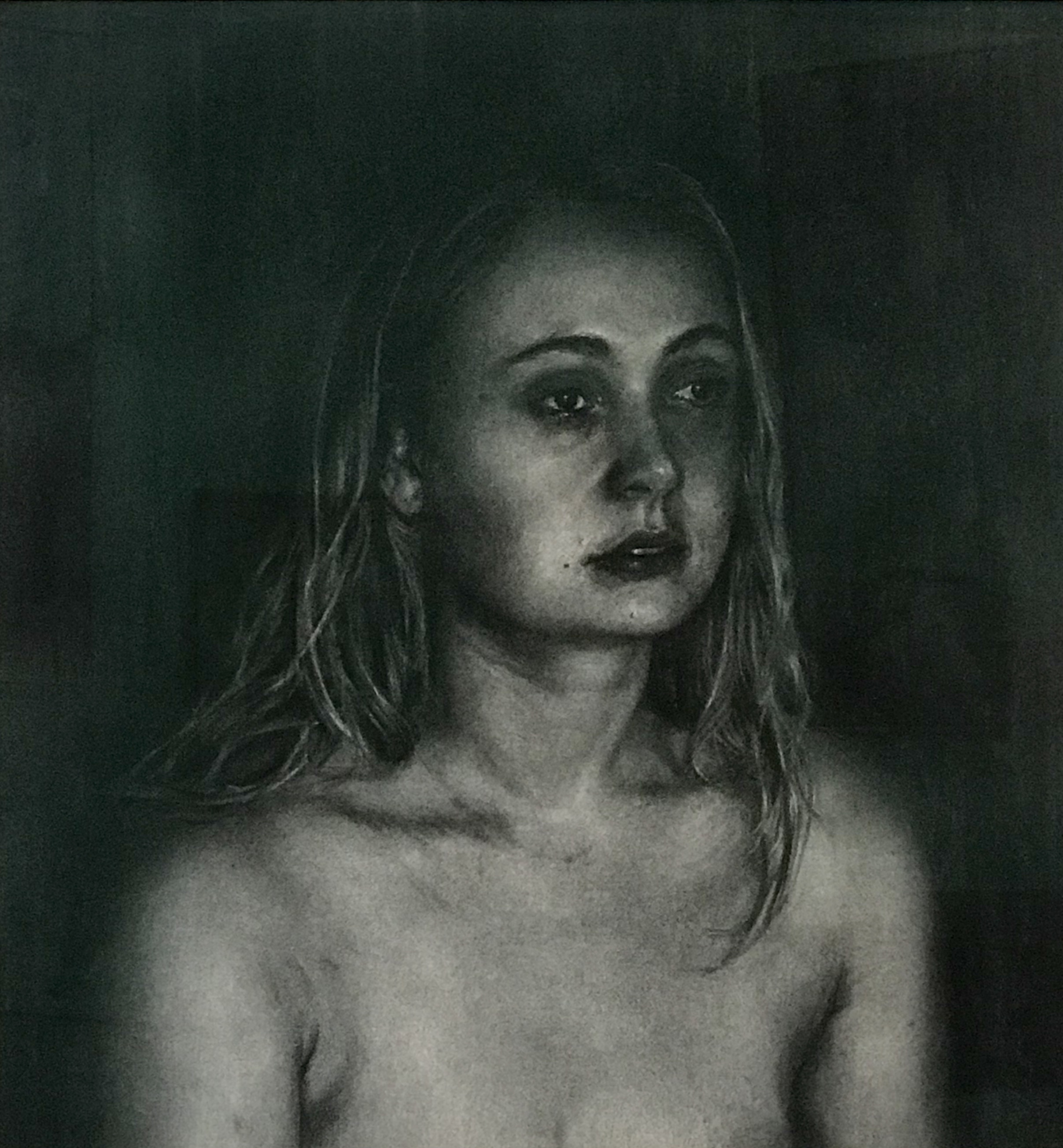 ANTOINETTE BARBOUTTIS  Georgia  charcoal on rag paper 102 x 96 cm