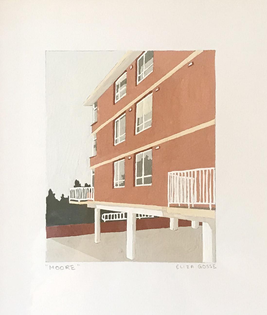 ELIZA GOSSE  Moore , 2019 gouache on paper 15 x 12 cm
