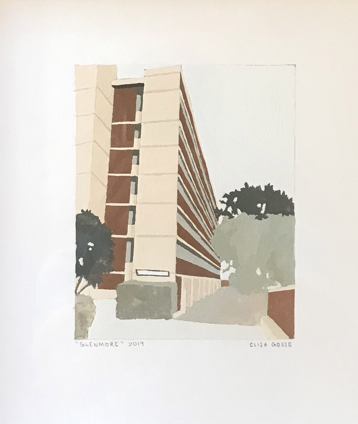 ELIZA GOSSE  Glenmore , 2019 gouache on paper 15 x 12 cm