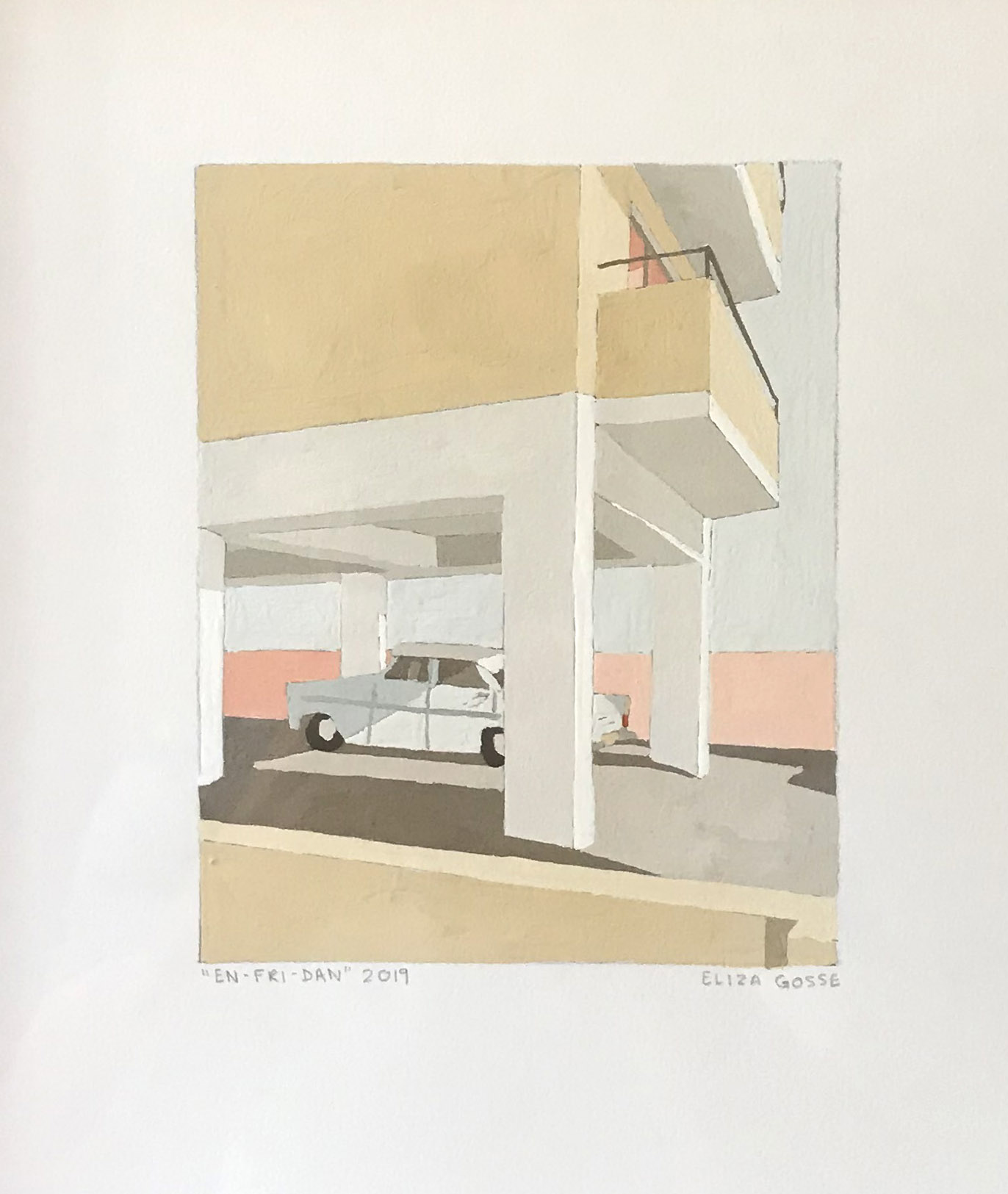 ELIZA GOSSE  En-Fri-Dan , 2019 gouache on paper 15 x 12 cm