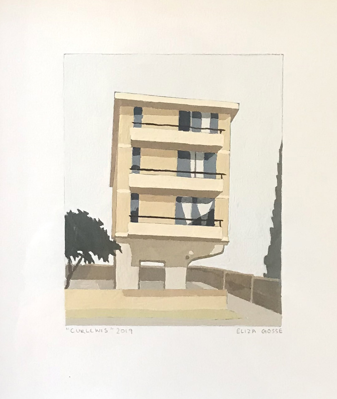 ELIZA GOSSE  Curlewis , 2019 gouache on paper 15 x 12 cm