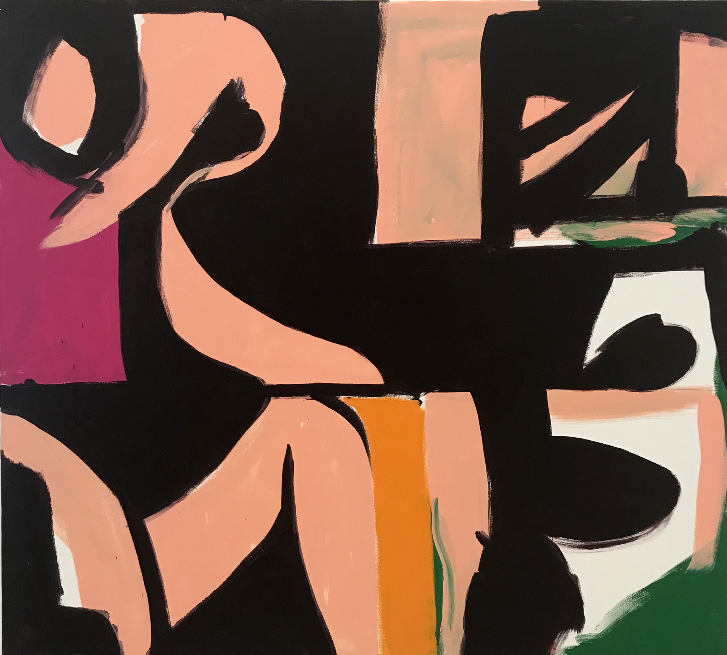 DICK WATKINS  French Open , 2018 acrylic on canvas 152.5 x 167.5 cm