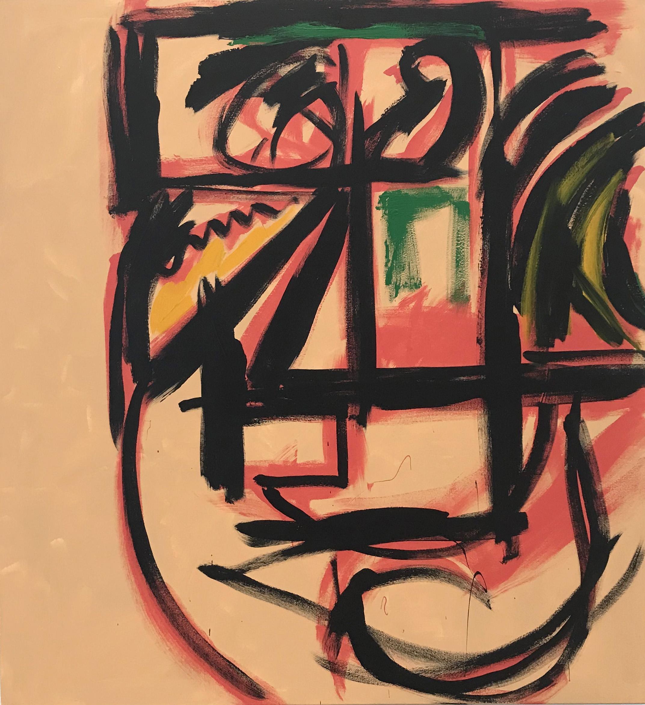 DICK WATKINS  Black Bay Shuffle , 2017 acrylic on canvas 167.5 x 152.5 cm