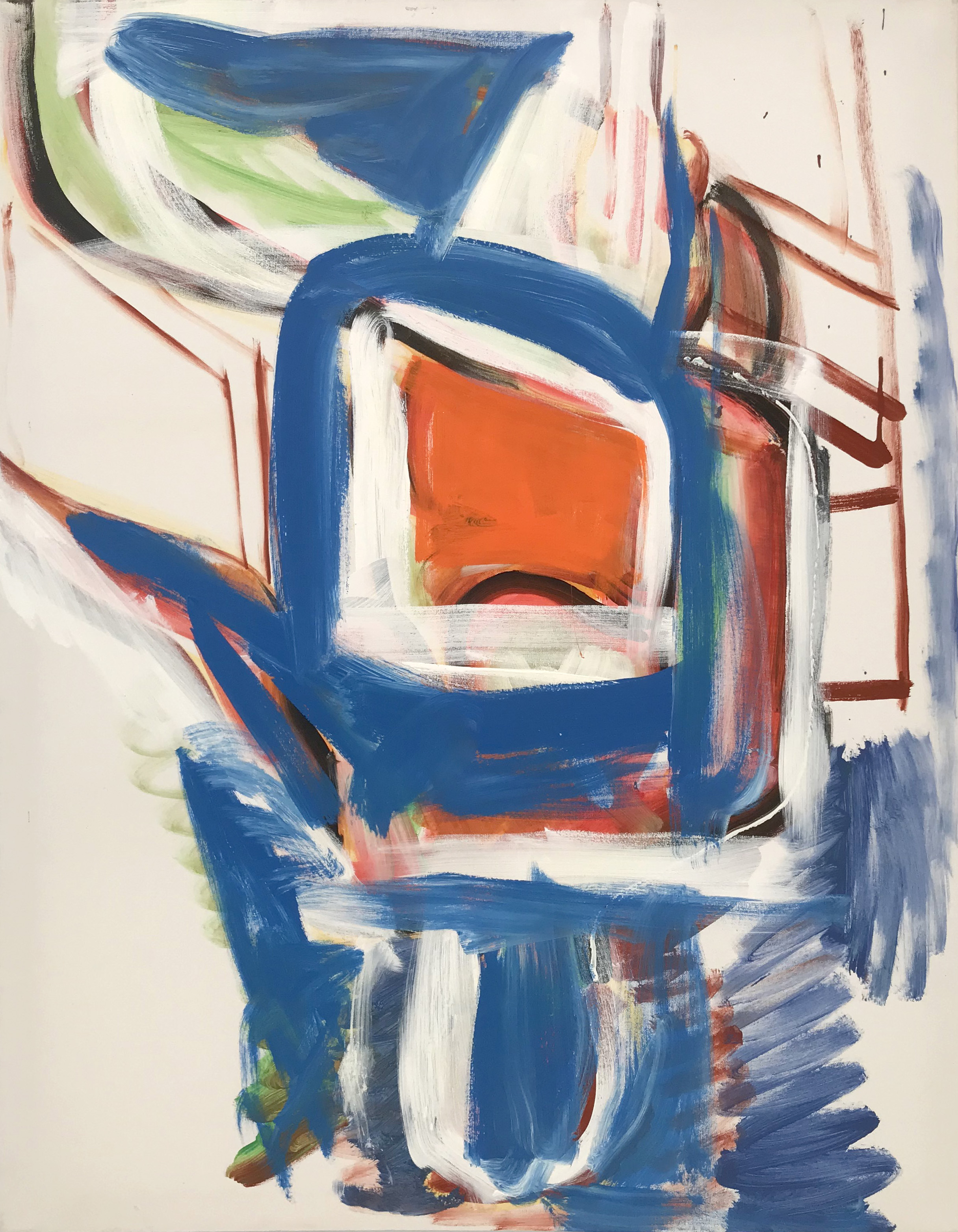 DICK WATKINS  Stravinsky,  2018 acrylic on canvas 121 x 91 cm