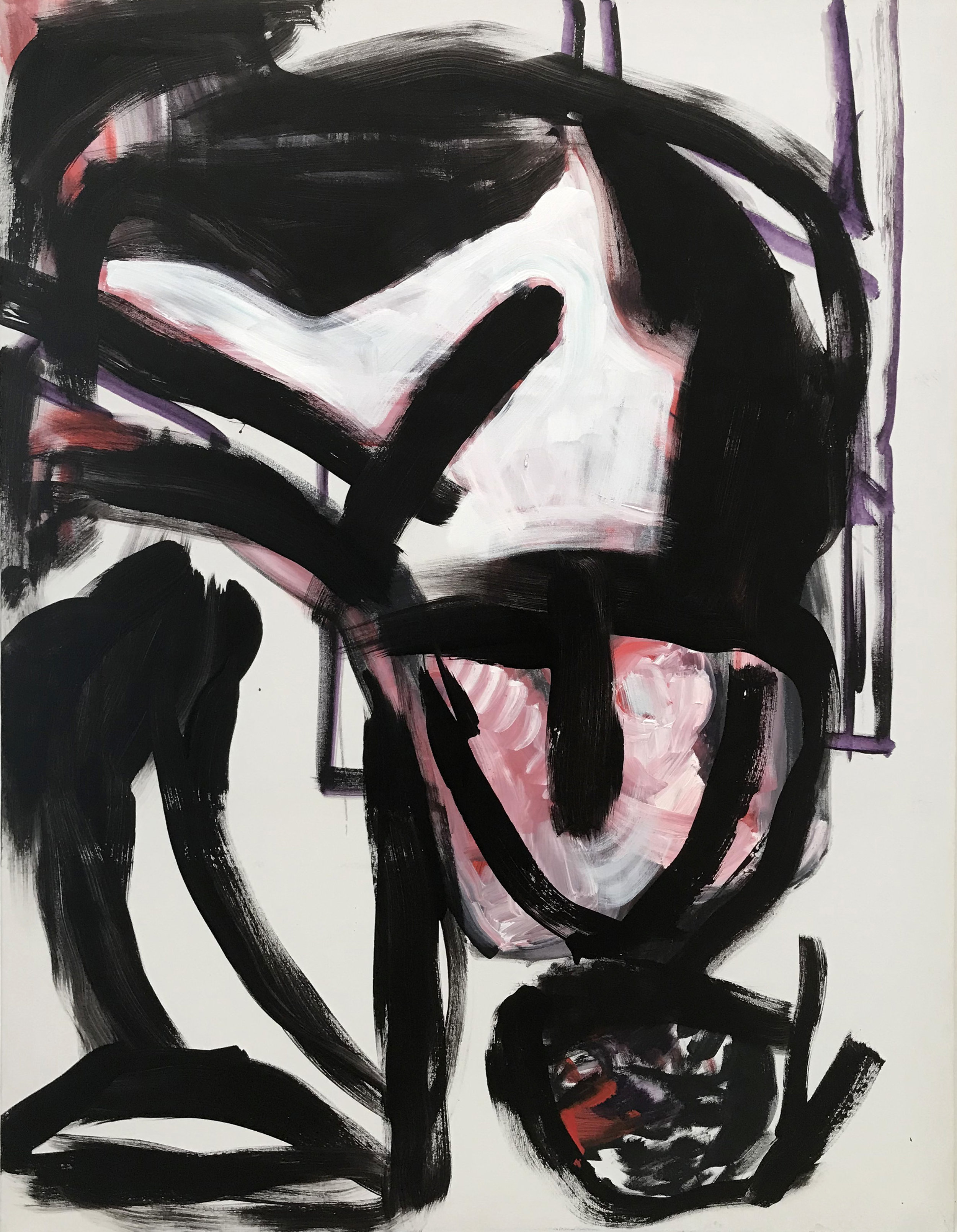 DICK WATKINS  Hindemith , 2018 acrylic on canvas 121 x 91 cm