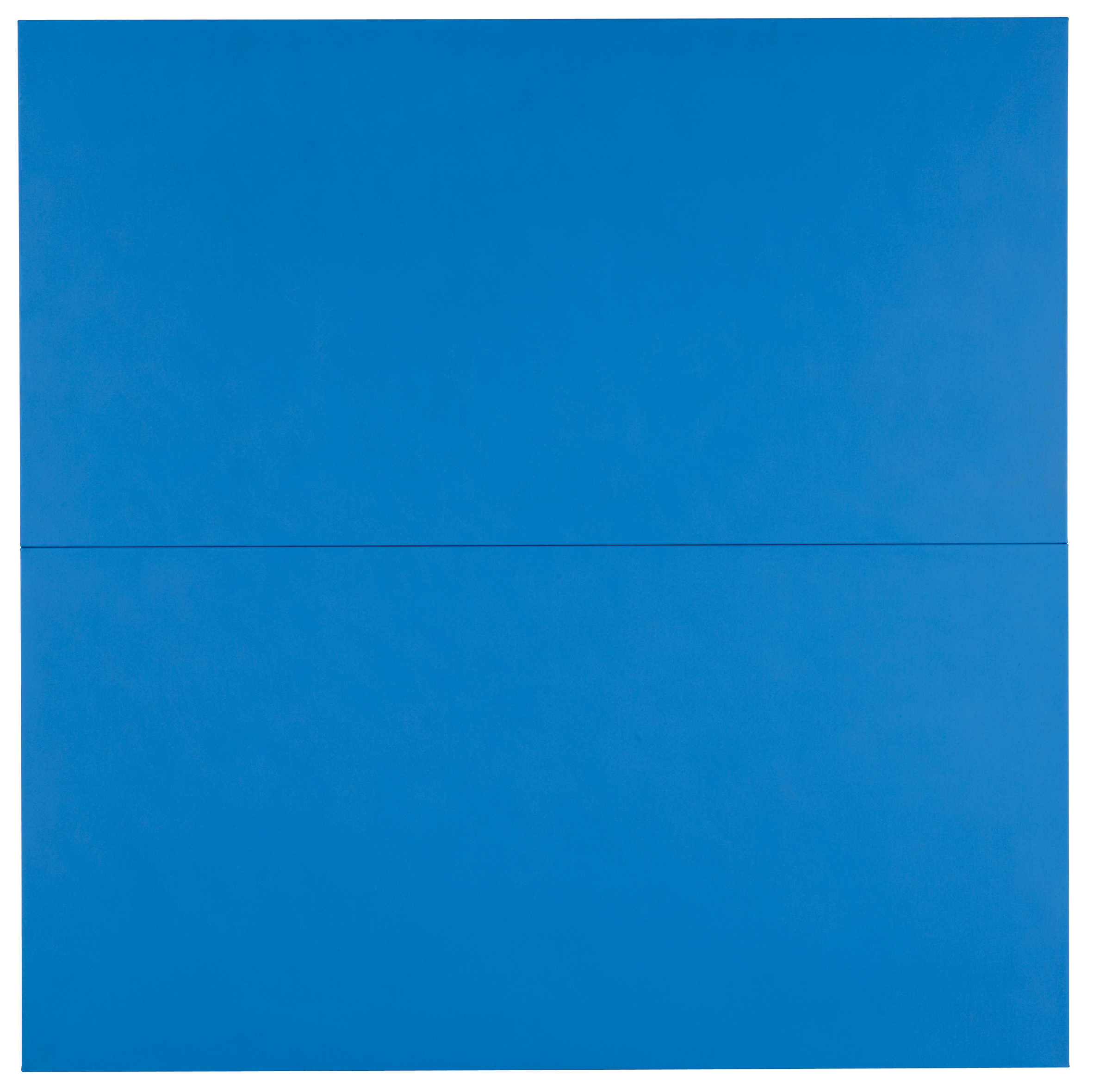 DAVID SERISIER  Untitled Blue Square Painting (interstate-10) , 2010 oil on linen 183 x 183 cm