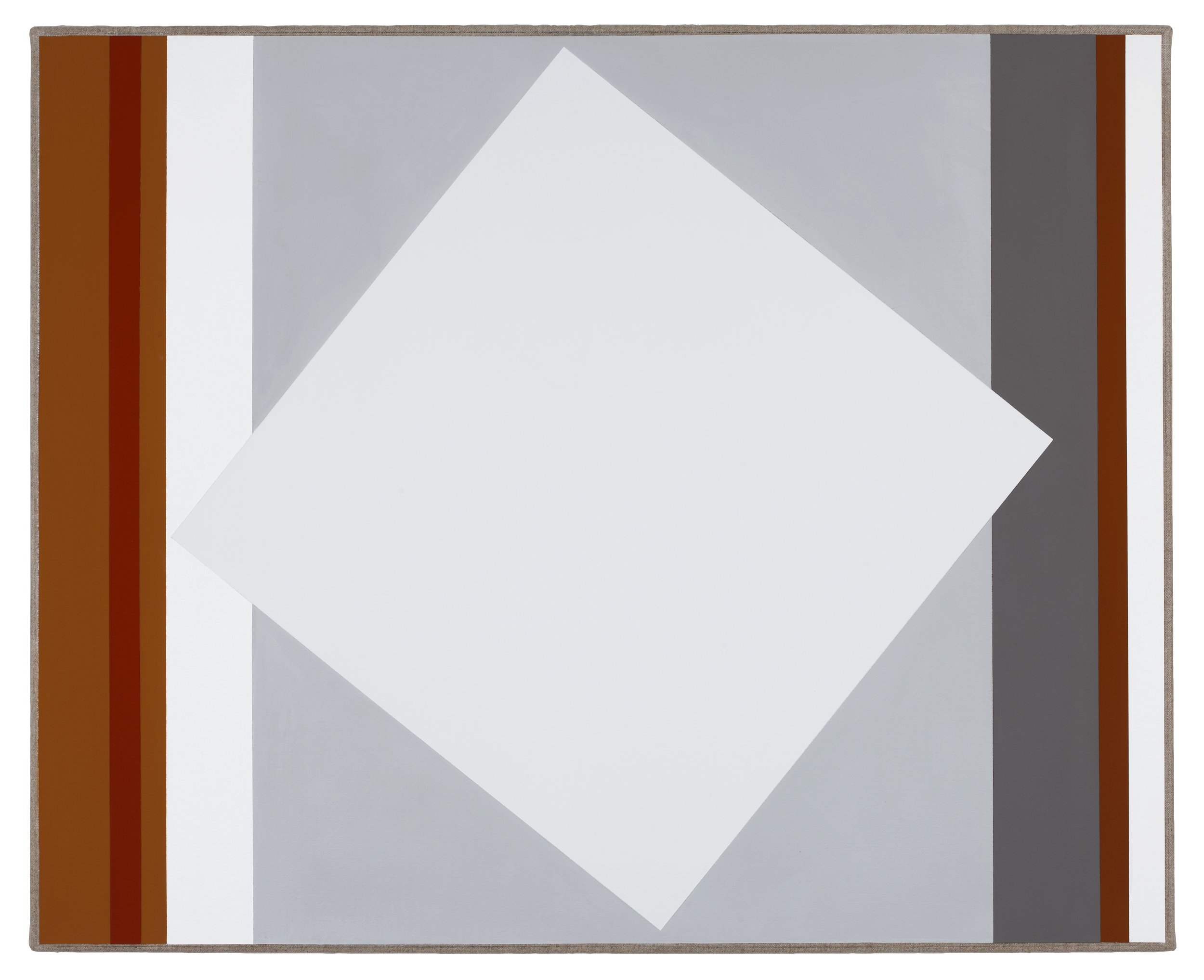 VIRGINIA COVENTRY  Two Greys,  2012 vinyl and acrylic on Belgian Linen 65 x 80 cm