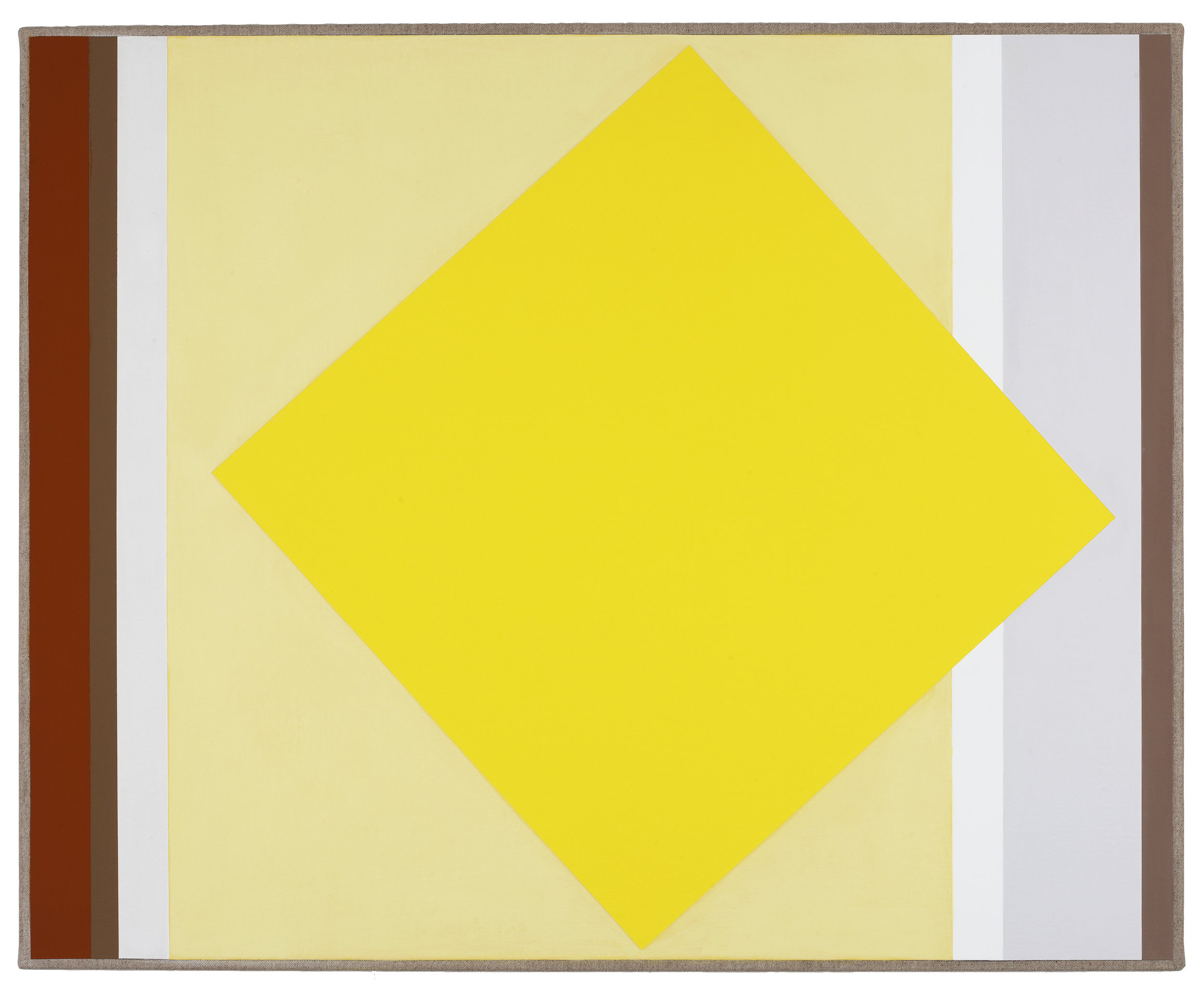VIRGINIA COVENTRY  Two Yellow , 2012 vinyl and acrylic on Belgian Linen 65 x 80 cm