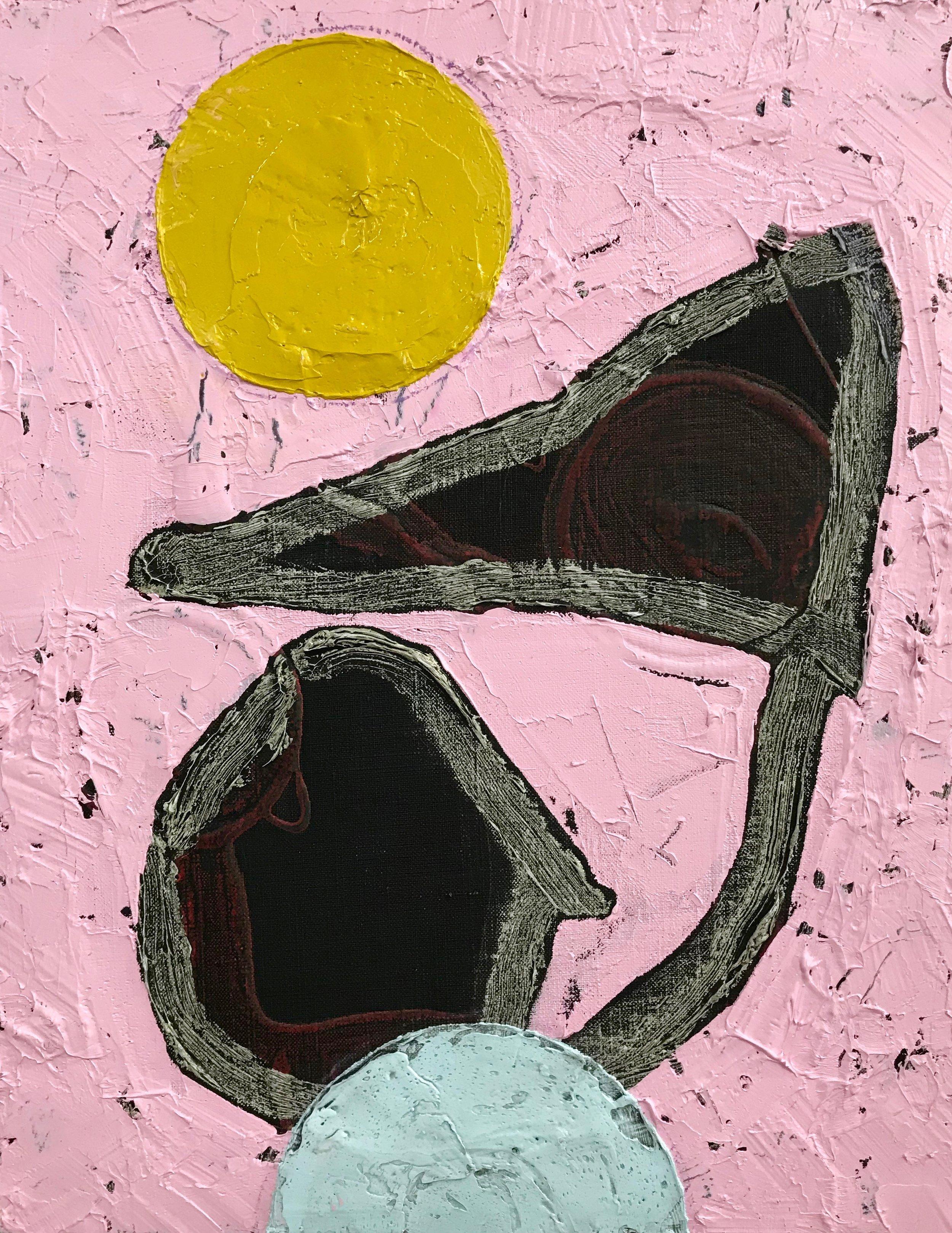 PETER SHARP  Twilight , 2019 oil and acrylic on linen 45 x 36 cm
