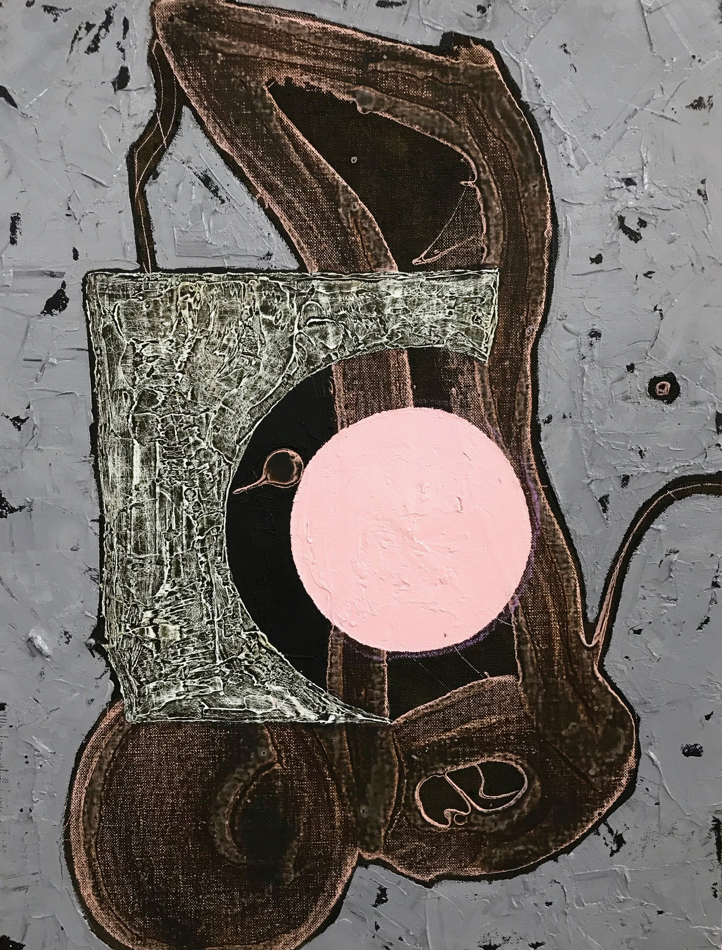 PETER SHARP  Rusted On , 2019 oil and acrylic on linen 45 x 36 cm