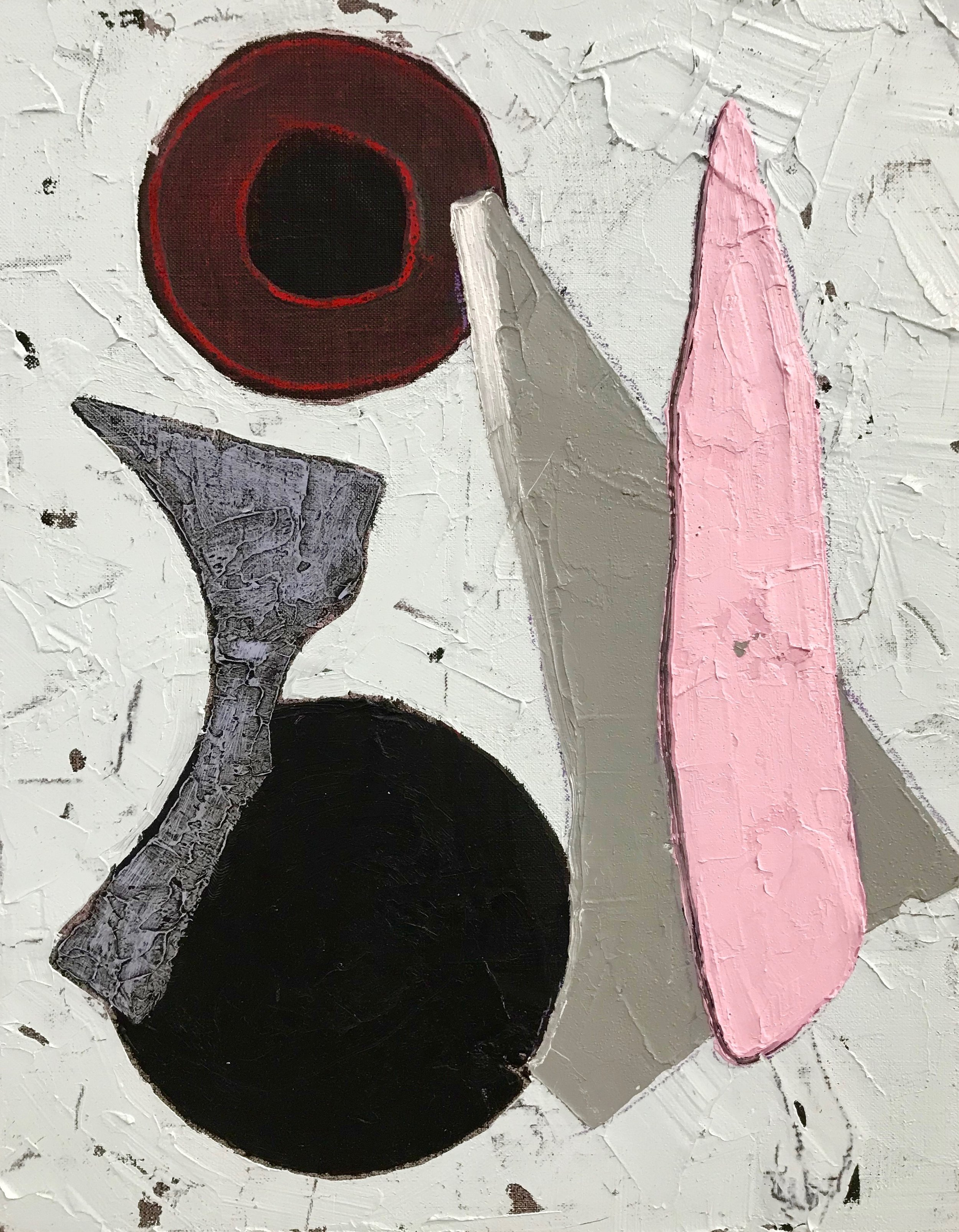 PETER SHARP  Pointed , 2019 oil and acrylic on linen 45 x 36 cm