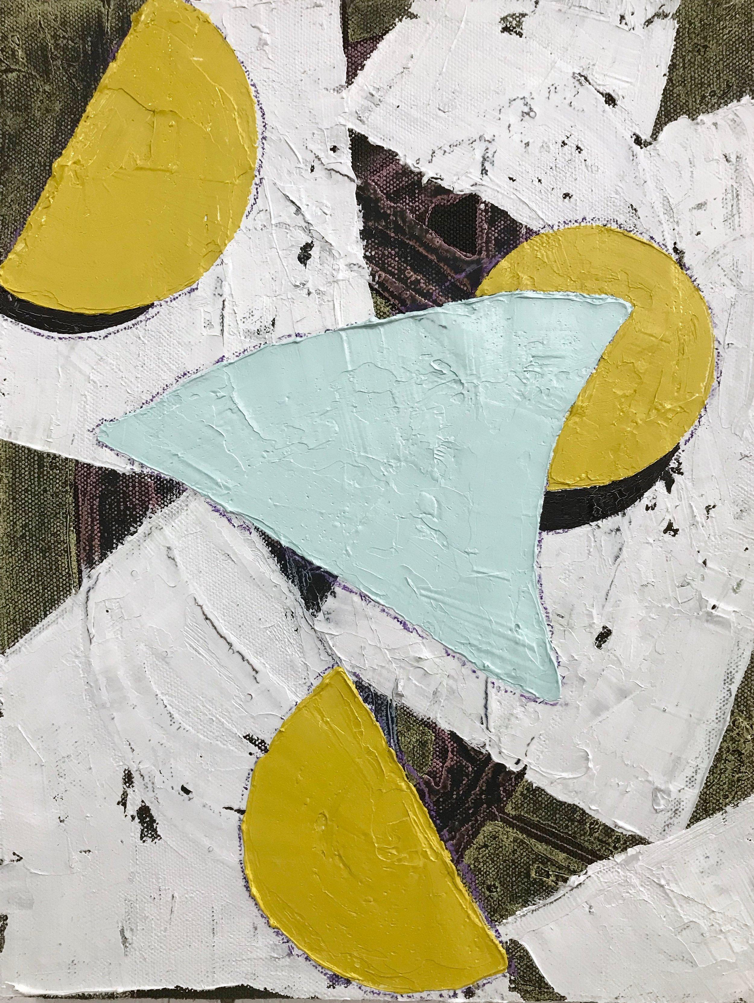 PETER SHARP  Mottle , 2018 oil and acrylic on linen 45 x 36 cm