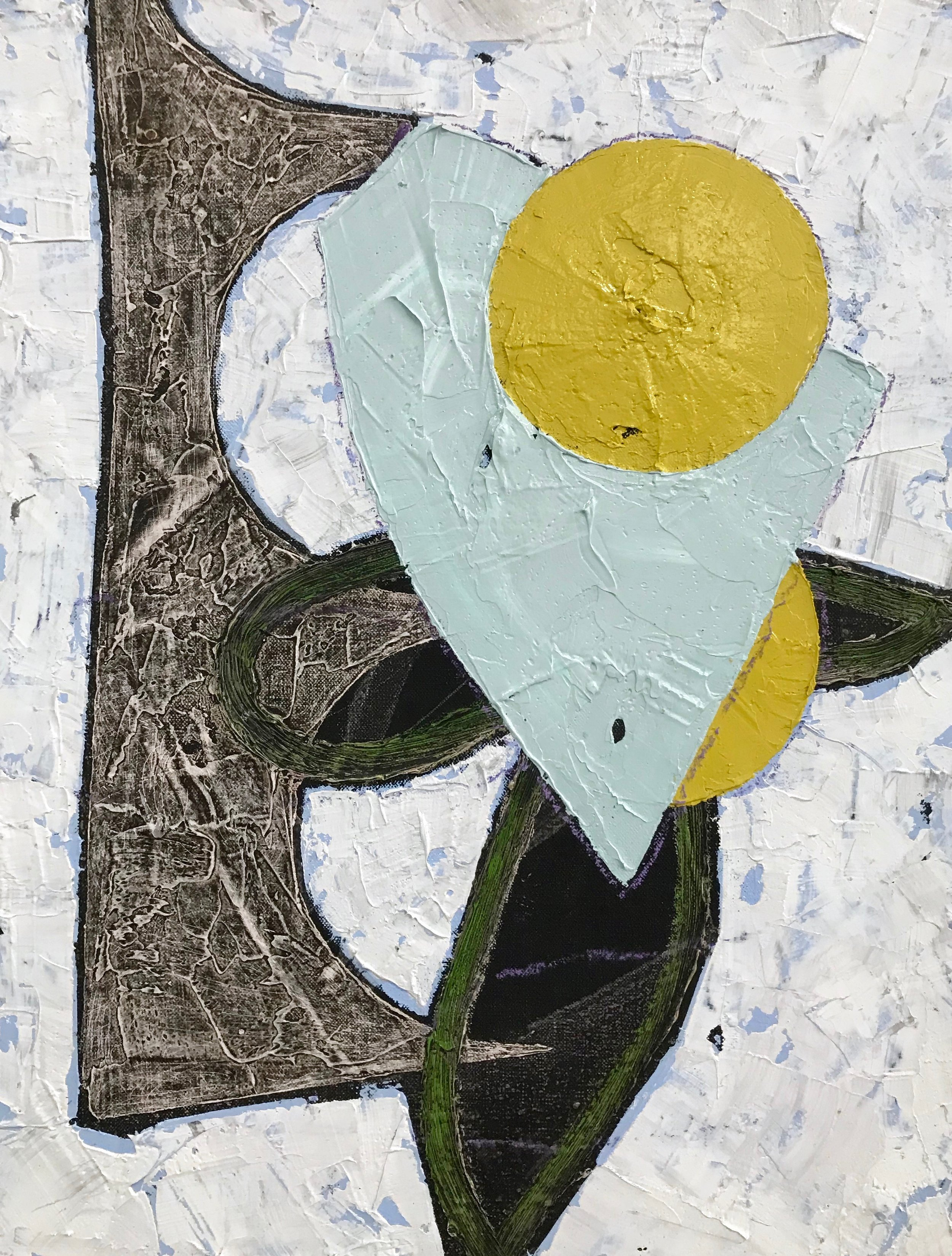 PETER SHARP  Mallee Flower , 2019 oil and acrylic on linen 45 x 36 cm