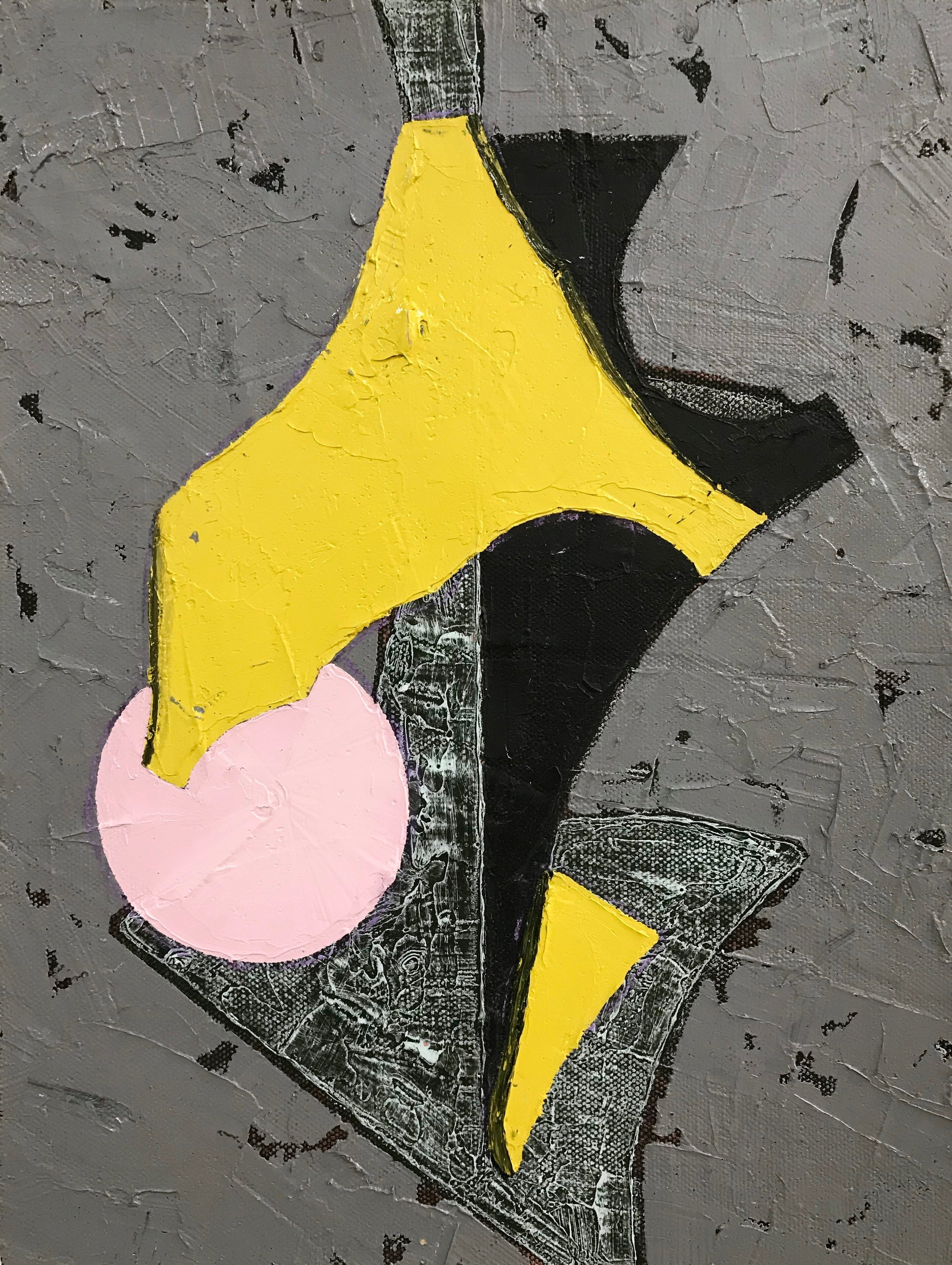 PETER SHARP  Dusk , 2019 oil and acrylic on linen 45 x 36 cm