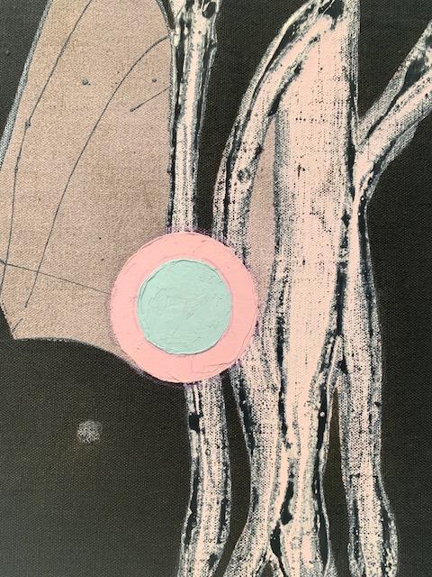 PETER SHARP  Brancusi's Bird,  2019 oil and acrylic on linen 46 x 35 cm