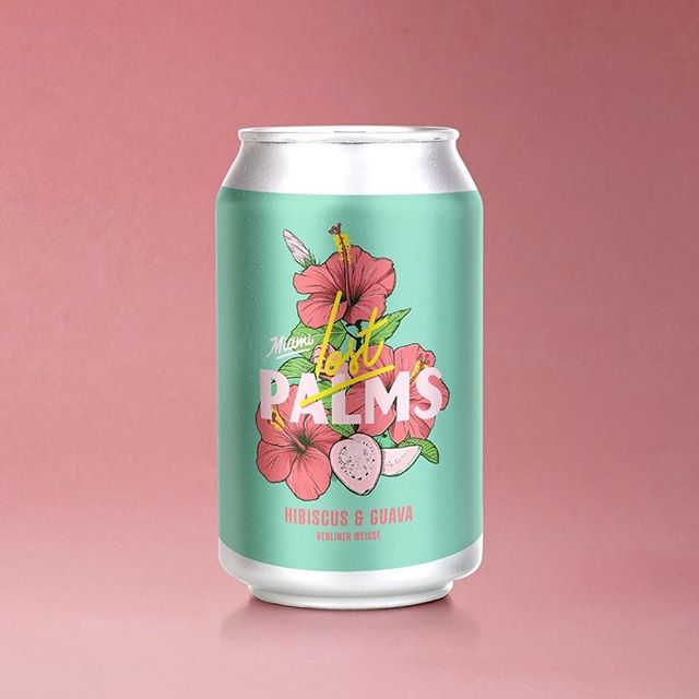 Can illustration and design for Lost Palms Brewing Co.  It's always fun drawing natives and flowers but even better when they're on BEER.