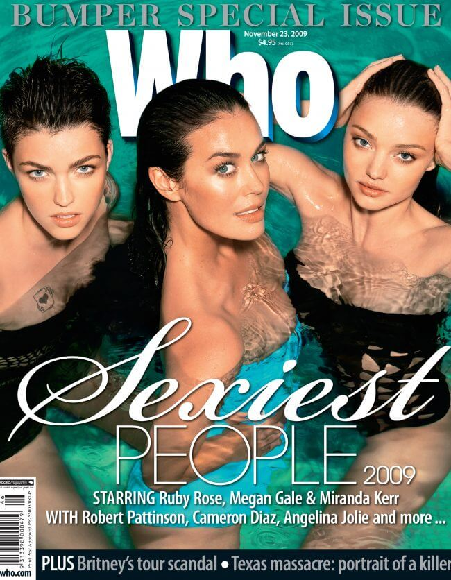 Who Magazine feat Megan Gale