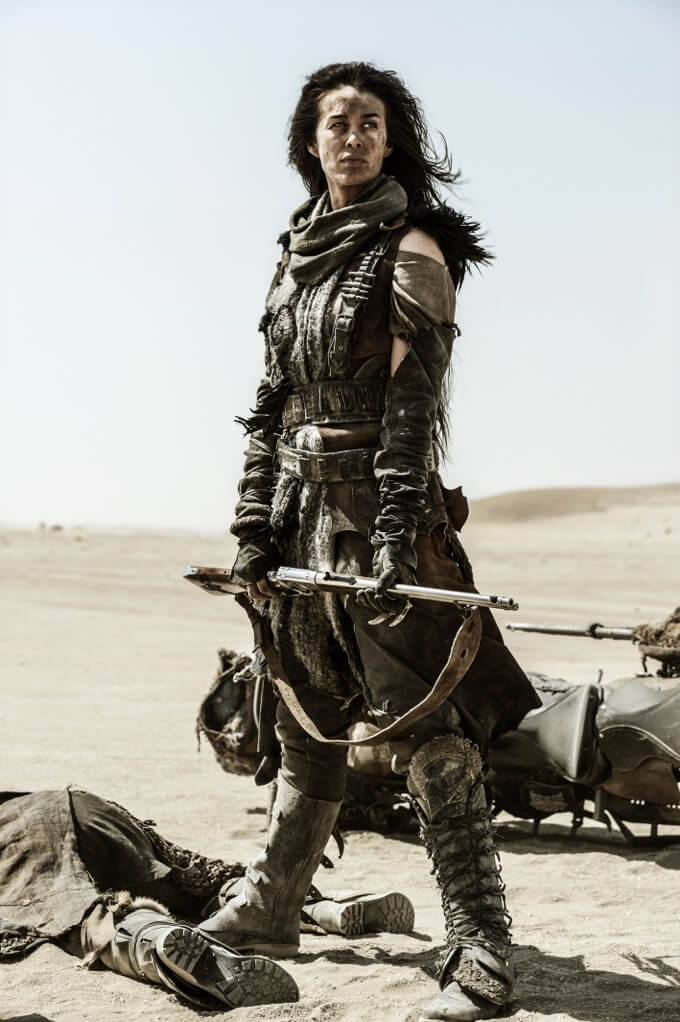 """As """"The Valkyrie"""" in George Miller's multi-award winning Mad Max: Fury Road, Megan won critical acclaim starring opposite Charlize Theron and Tom Hardy (2015)."""
