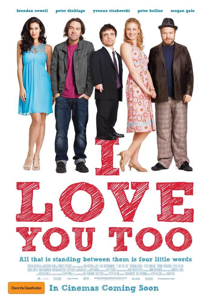 """In her first Australian acting role, Megan appeared as """"Francesca Moretti"""" in feature film I Love You Too, written by Australian comedian Peter Helliar (2010)."""