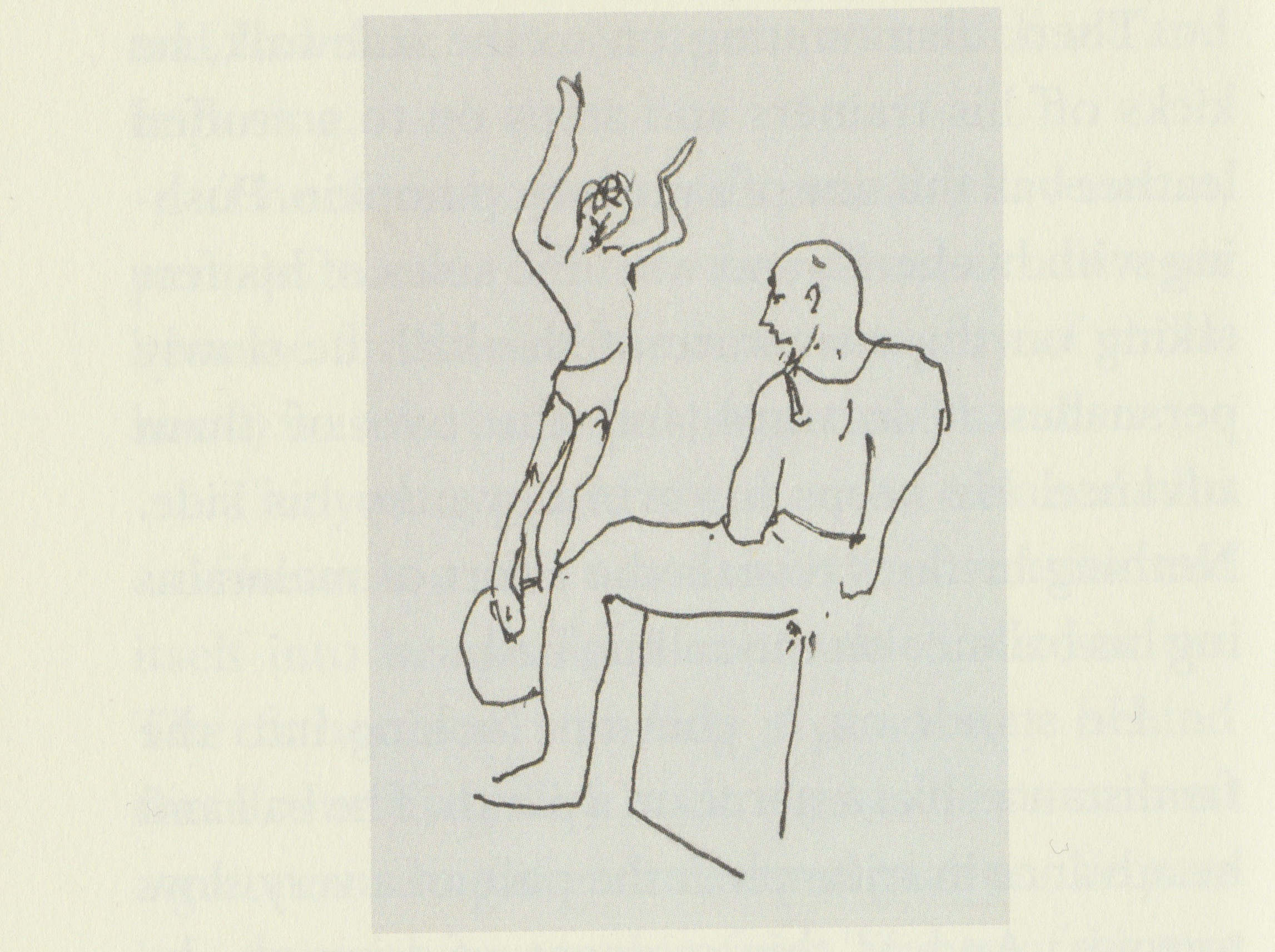 John Berger, Confabulations : Scan of illustration from p.120