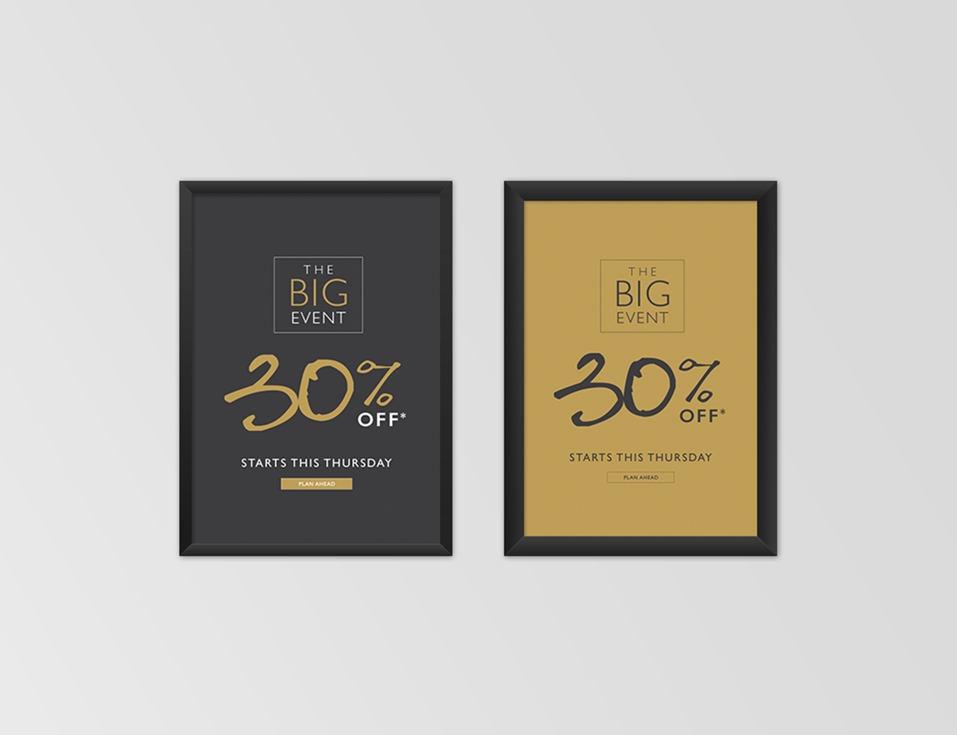 THE BIG EVENT:  In-store advertising