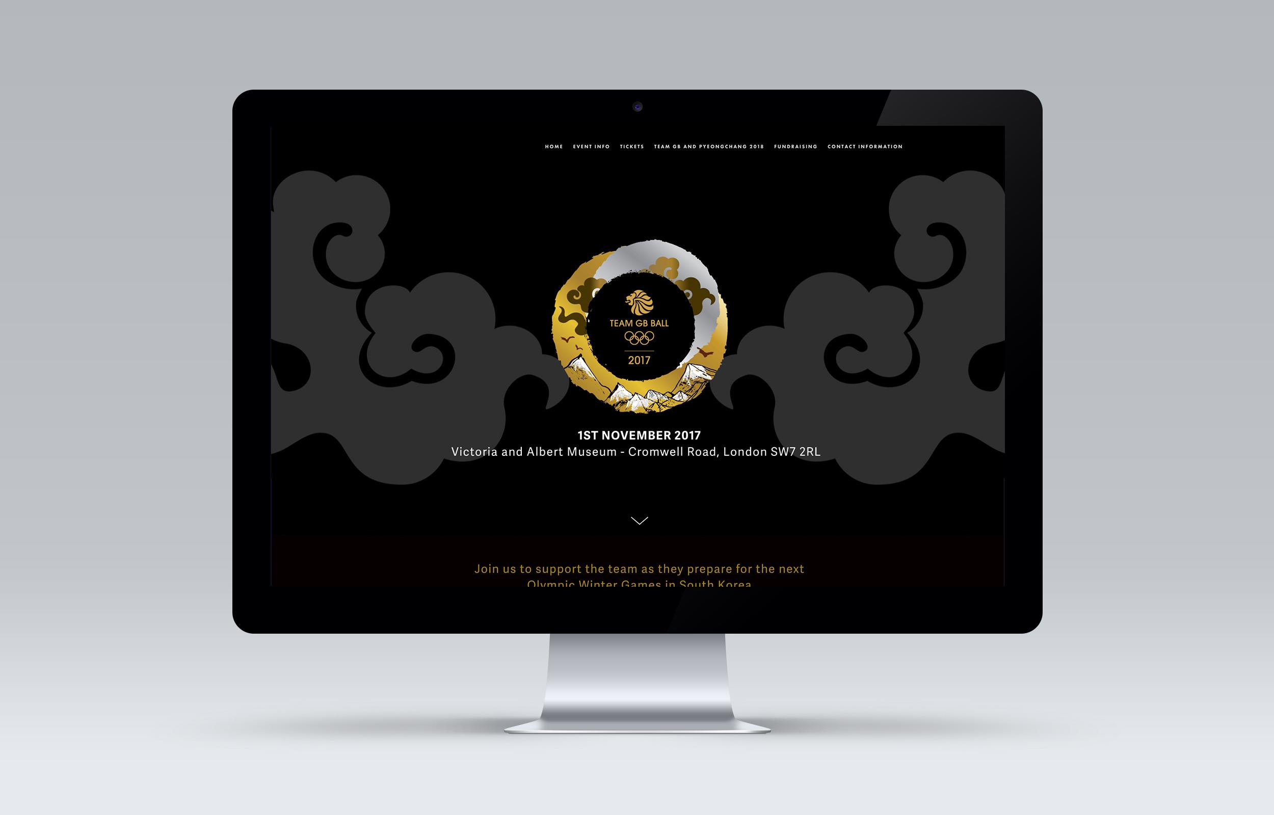 Desktop view of the Team GB Ball website