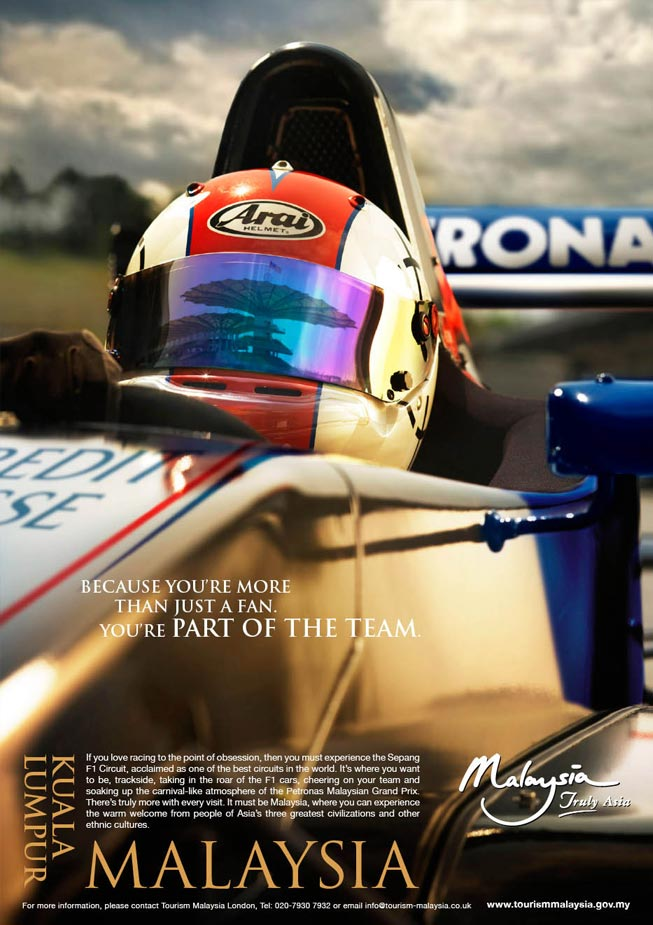 National advertisement campaign:  Promoting F1 in Malaysia