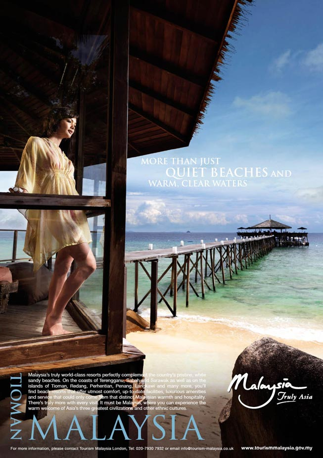 National advertisement campaign:  Promoting beaches in Malaysia