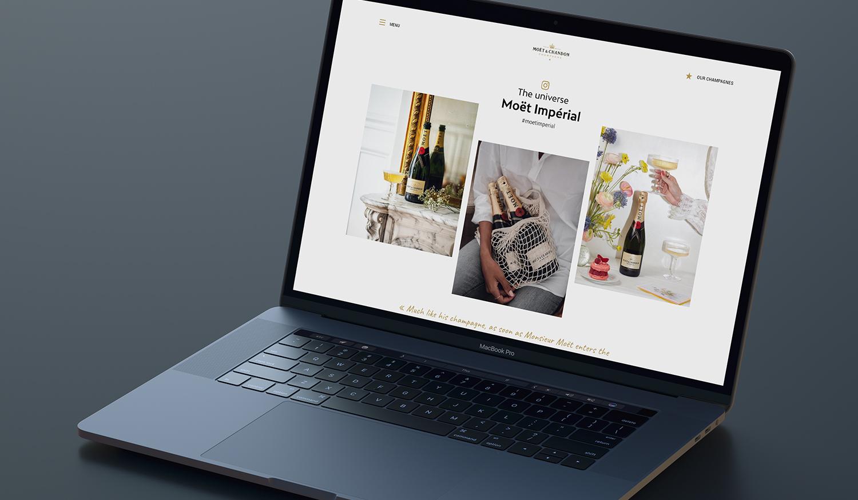 London Fashion Week:  Website Design and Promotion on Desktop