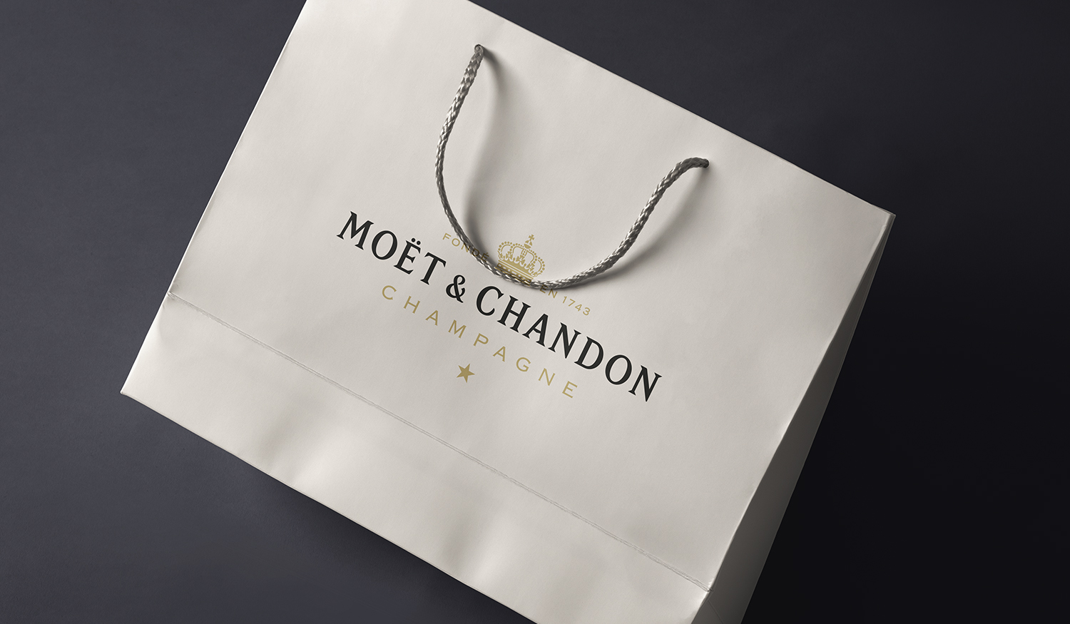 London Fashion Week Collateral:  Black and Gold Foiling on Carry Bags