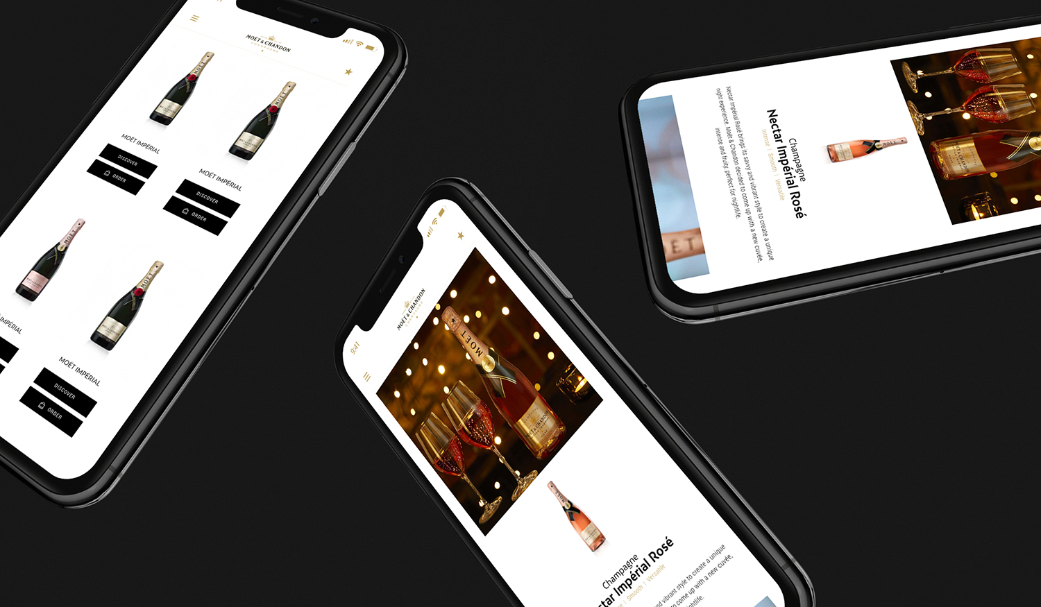 London Fashion Week:  Website Design and Promotion on IPhone X