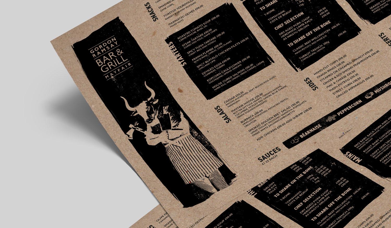 Gordon Ramsay Bar & Grill Branding:  Bespoke Brand Assets