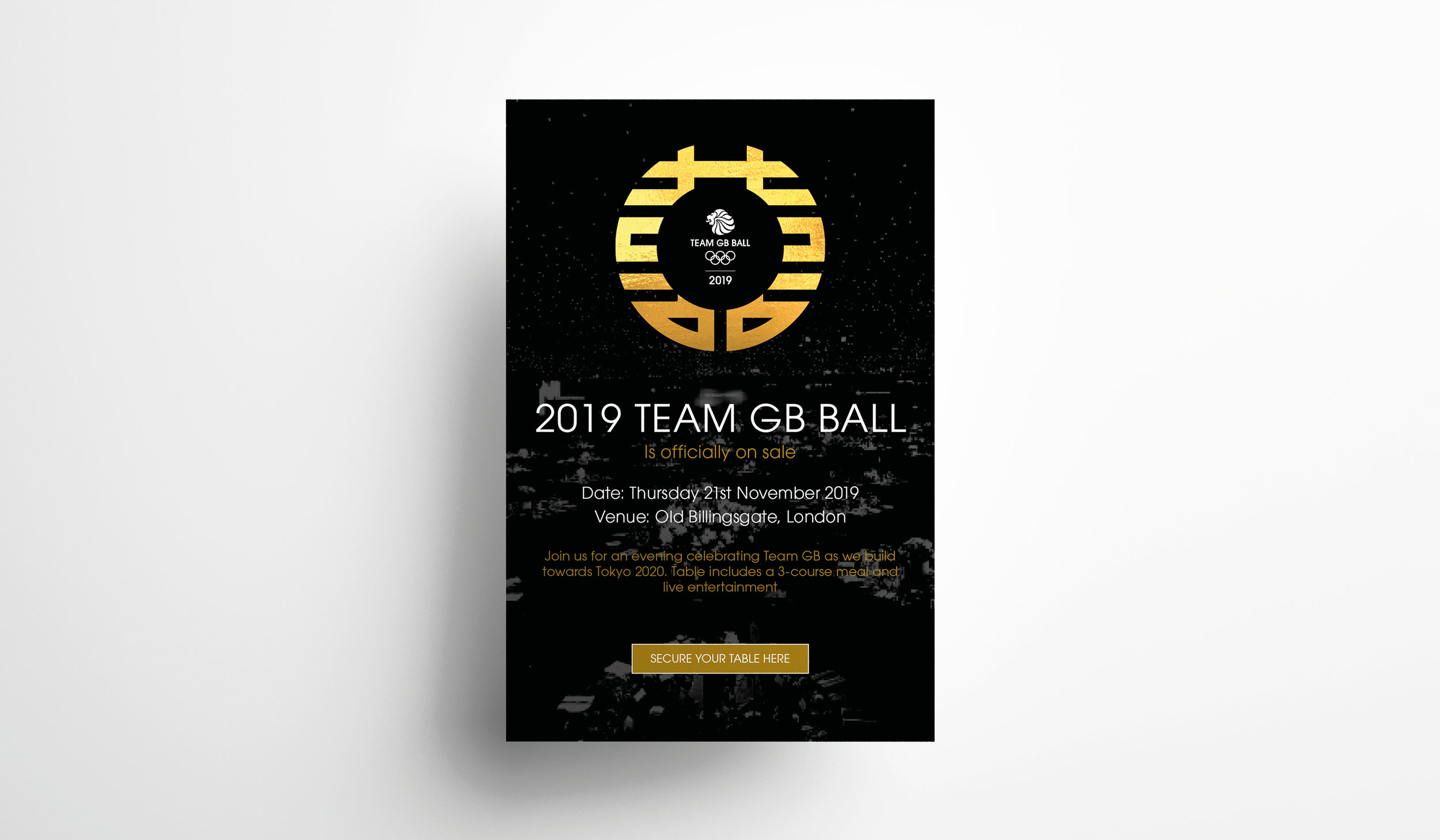 Sales poster for the Team GB Ball
