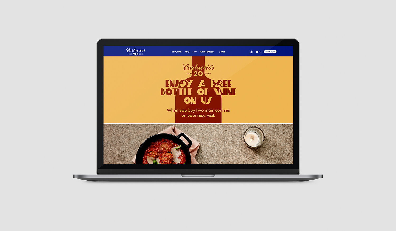Wine Promotion:  Homepage Branding