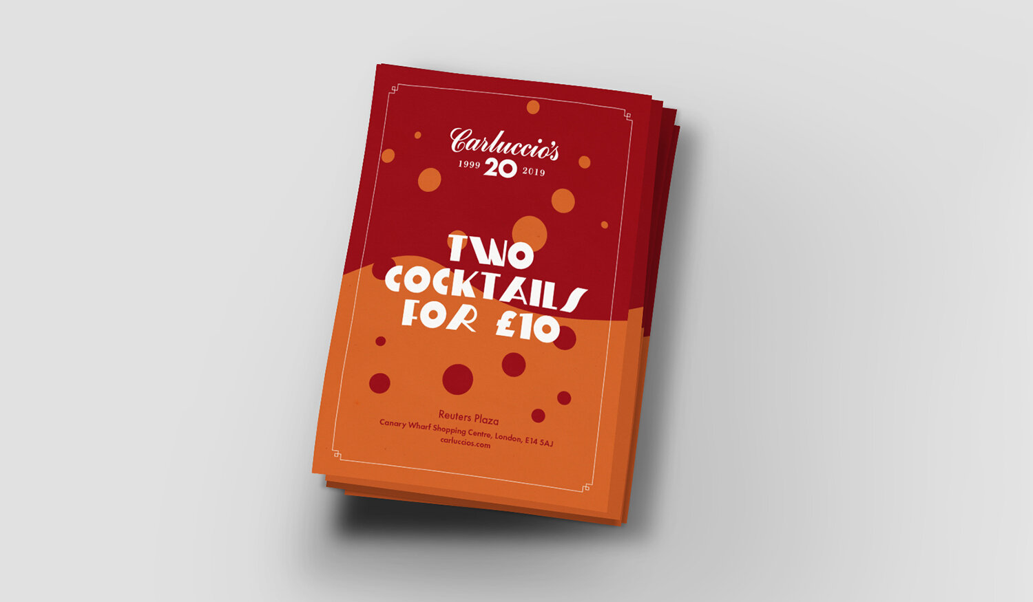 Cocktail Offer:  Restaurant Collateral