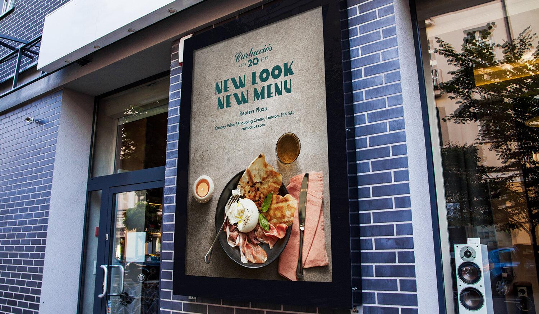 New Menu Promotion:  Canary Wharf Advert