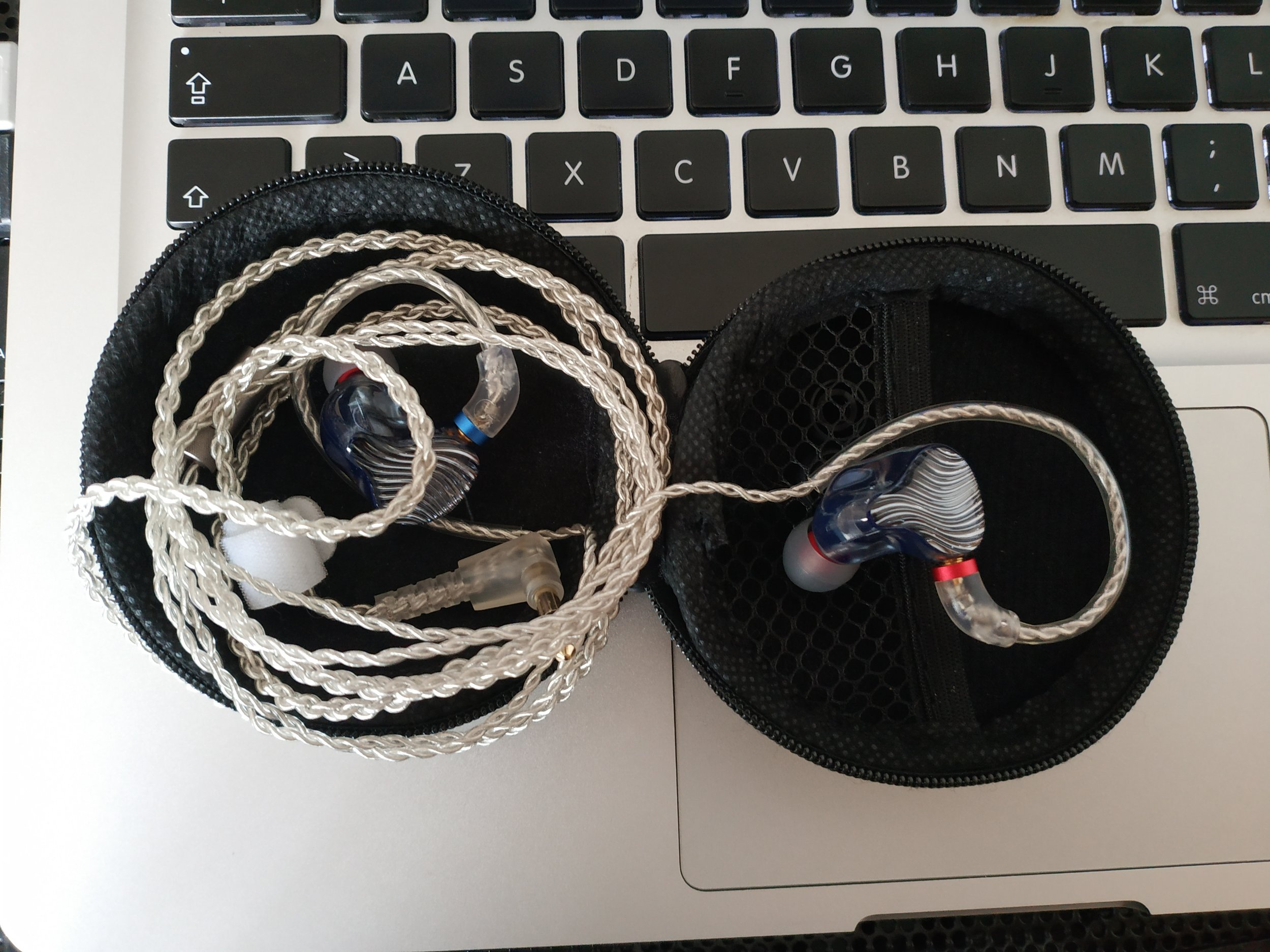 AudioSense stock cable on FiiO FA1