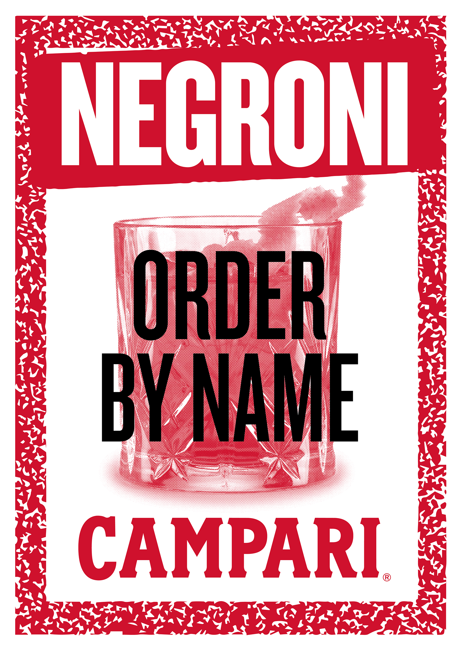 Campari   Negroni Poster   By James-Lee Duffy