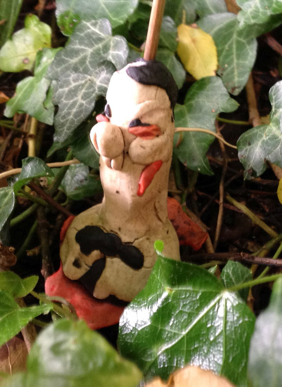 Plasticine George Osborne, after a year in the garden