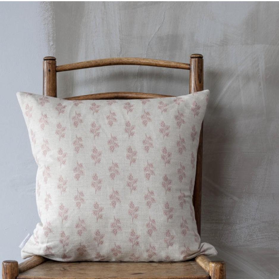 Pink Flora feather pillow