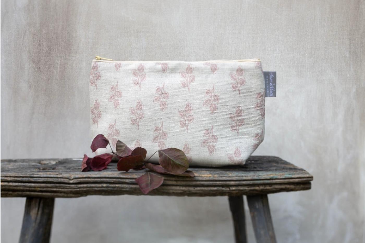 Pink Flora wash bag