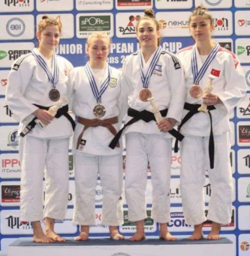 Left to Right Silver: Zeliha Cinci (Turkey), Gold: Sofia Asvesta (Cyprus), Bronze: Kader Divan (Turkey) & Paz Kafri (Israel)
