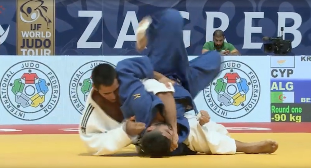Georgios Kroussaniotakis wearing the white Judogi