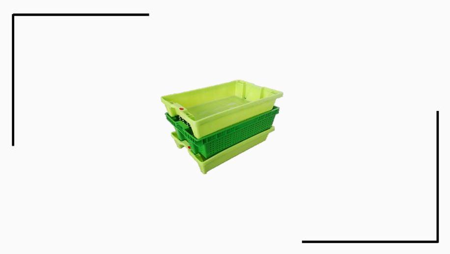Bac empilable emboîtable avec couvercle