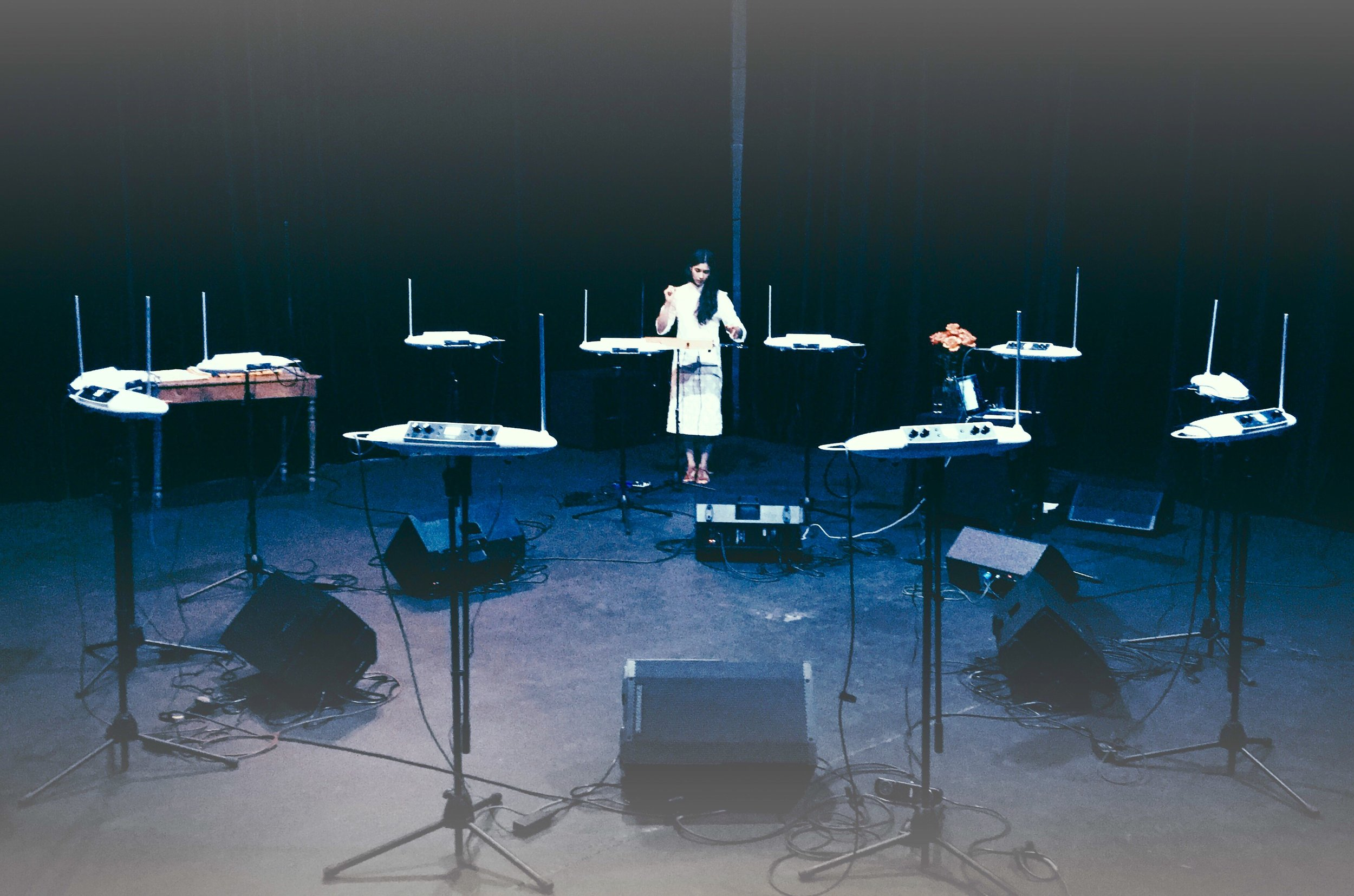 Theremin Residence at Schlachthaus Theatre in BERN, CH - Sept/18 - Pictured: Fhun Ghao